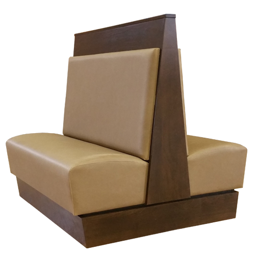 tan double station booth interchangeable cushions